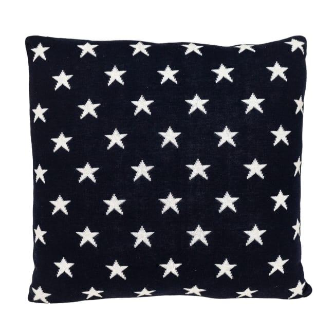 Navy Blue Patriotic Throw Pillow