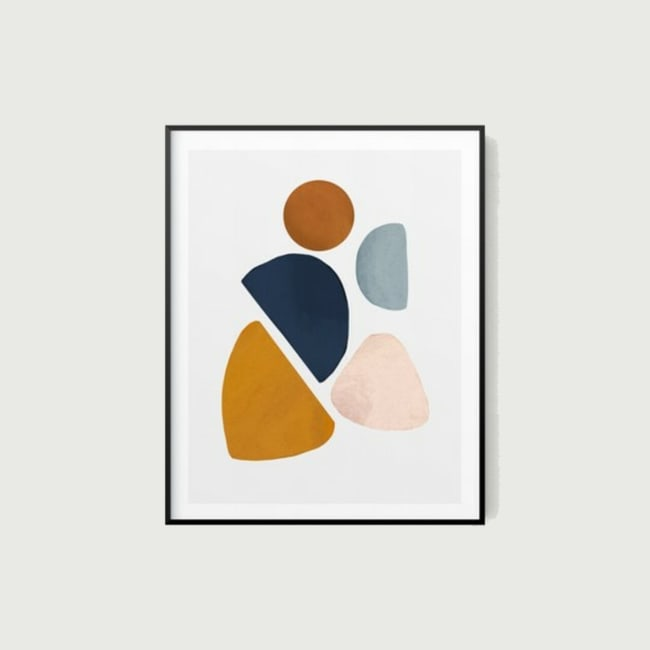 Pieces Abstract Watercolor Wall Art