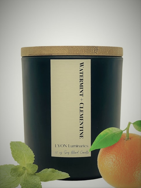 Watermint + Clememtine Soy Blend Luxury Candle