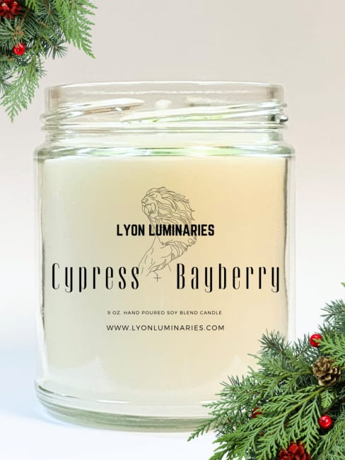 Cypress & Bayberry Soy Blend Candle
