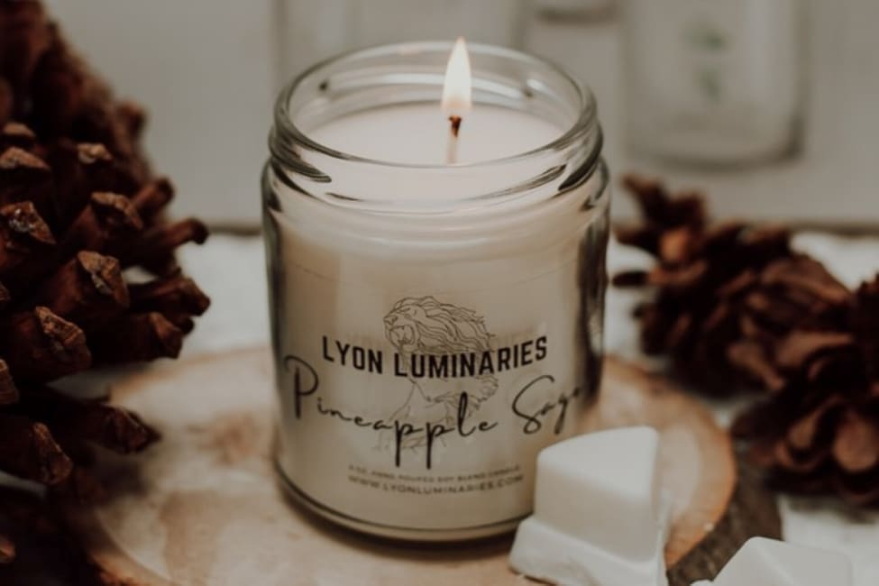Pineapple Sage Soy Blend Candle