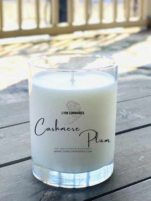 Cashmere Plum Soy Blend Candle