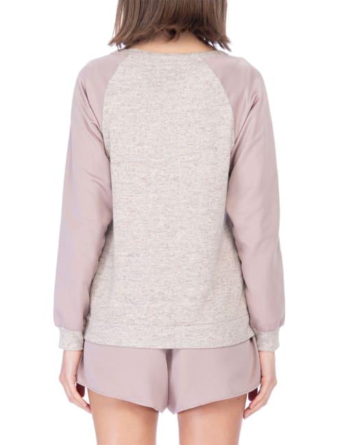 V Neck Cut Out Raglan Pullover