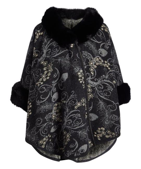 Winter Faux Fur Cape Outerwear Wrap