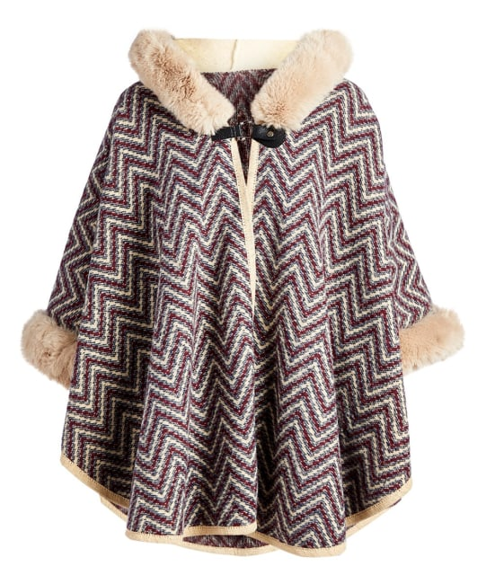 Faux Fur Hooded Capes