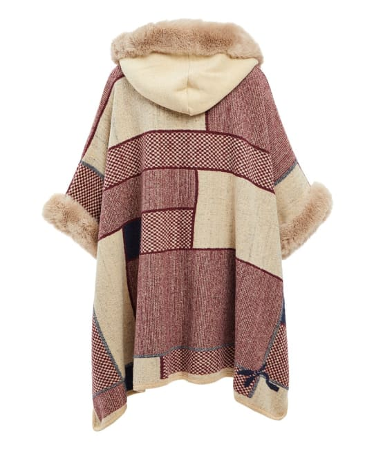 Fall Faux Fur Hooded Winter Capes Wrap