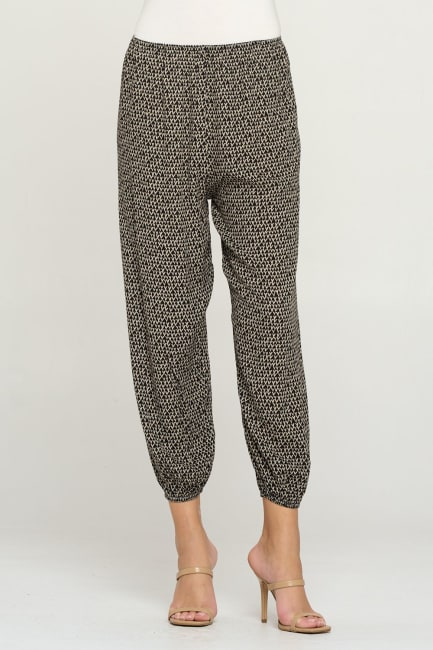 Women's Fashion Elastic Hem Harem Jogger Pants