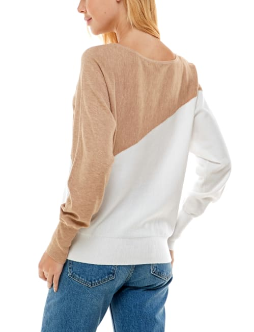 Madison & Hudson Dolman Color Block Pullover Sweater