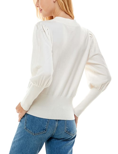 Madison & Hudson Puff Sleeve Ottoman Pullover Sweater