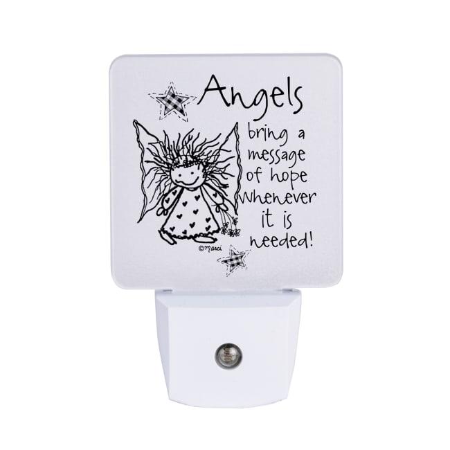 Angels Bring A Message Nighlight - Marci Art