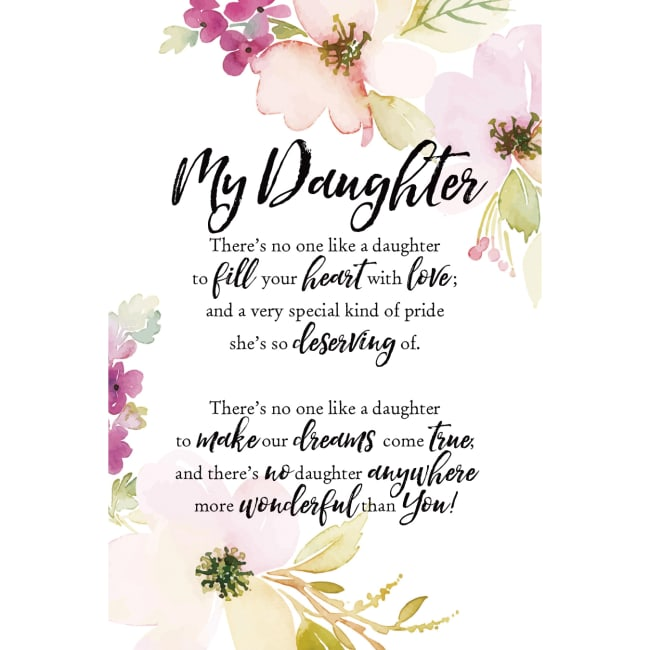 Daughter Wood Plaque With Easel 6 Inches X 9 Inches