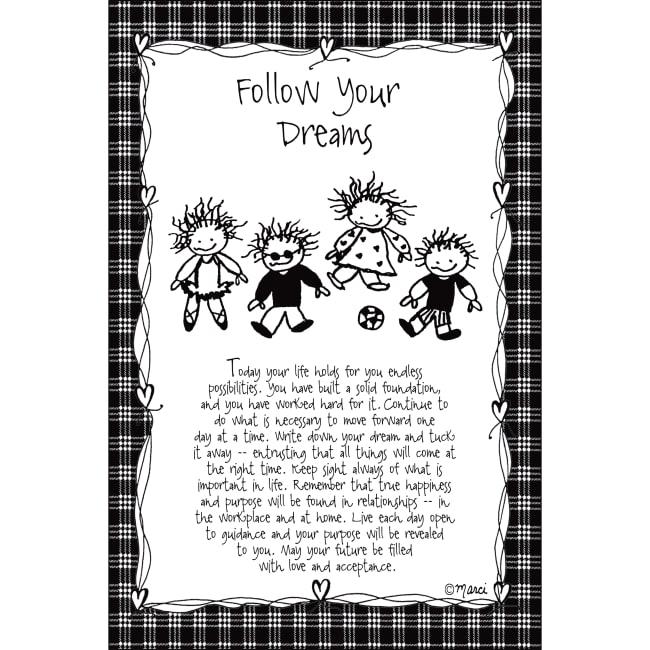 Follow Your Dreams Children Of The Inner Light 6X9 Wood Plaque - Marci Art