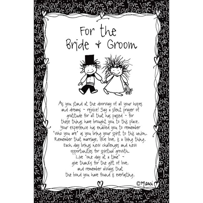 For The Bride & Groom Children Of The Inner Light 6X9 Wood Plaque - Marci Art