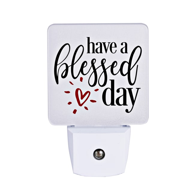 Have A Blessed Day Let Your Light Shine Night Light