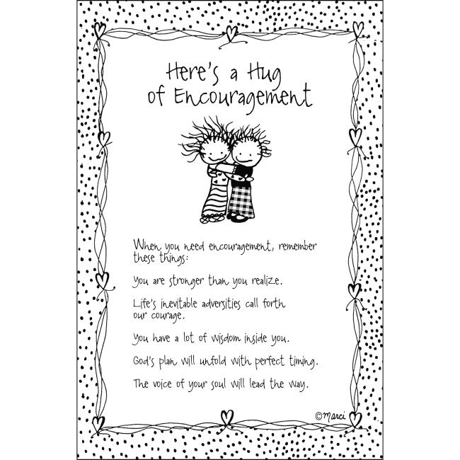 Here's A Hug Of Encouragement Children Of The Inner Light 6X9 Wood Plaque - Marci Art