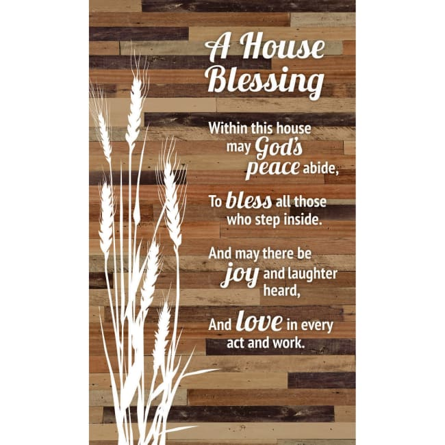 House Blessing Wood Plaque Easel - 6