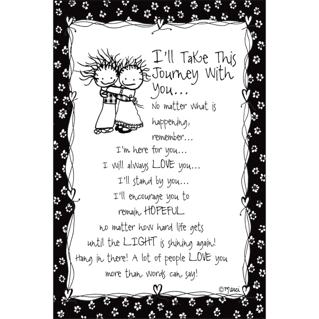 I'll Take This Journey With You Children Of The Inner Light 6X9 Wood Plaque - Marci Art