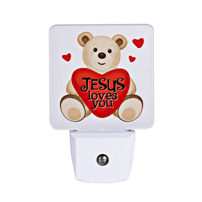 Jesus Loves You Let Your Light Shine Night Light