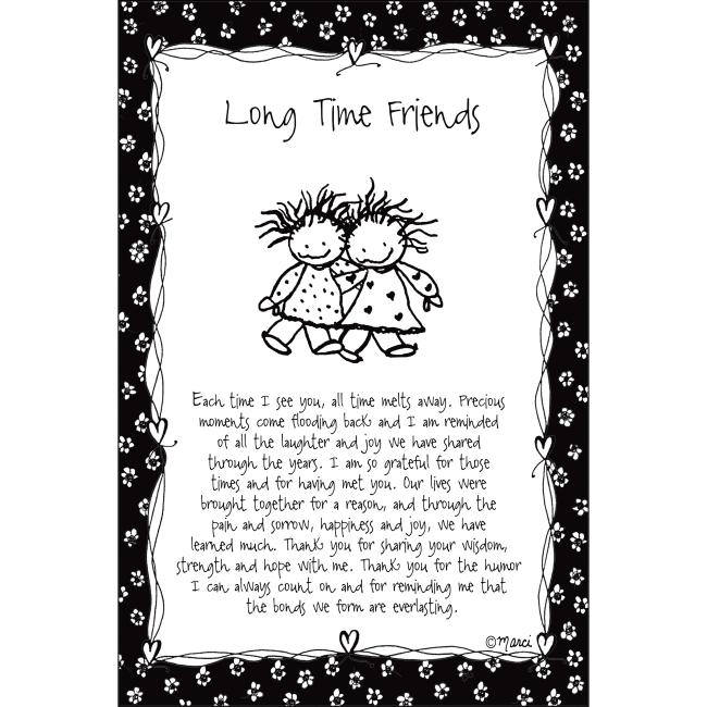 Long Time Friends Children Of The Inner Light 6X9 Wood Plaque - Marci Art