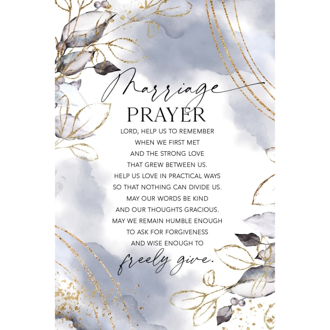 Marriage Prayer Wood Plaque With Easel And Hanger 6 Inches X 9 Inches