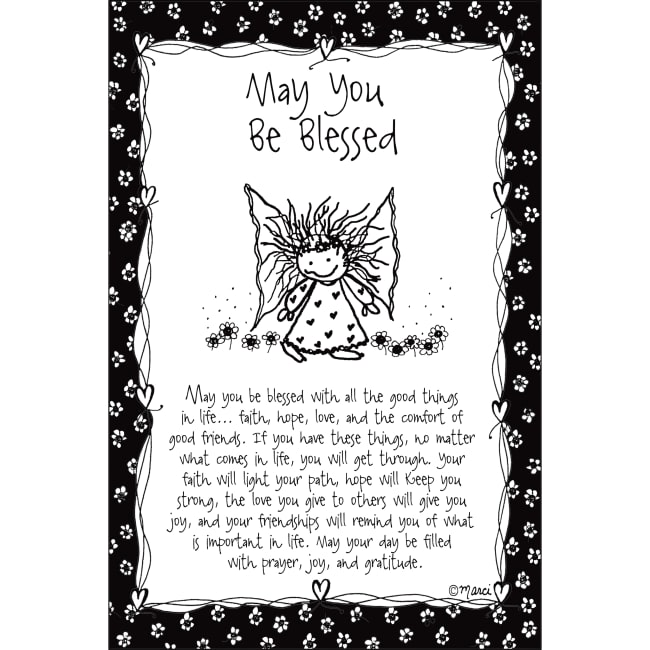 May You Be Blessed Children Of The Inner Light 6X9 Wood Plaque - Marci Art