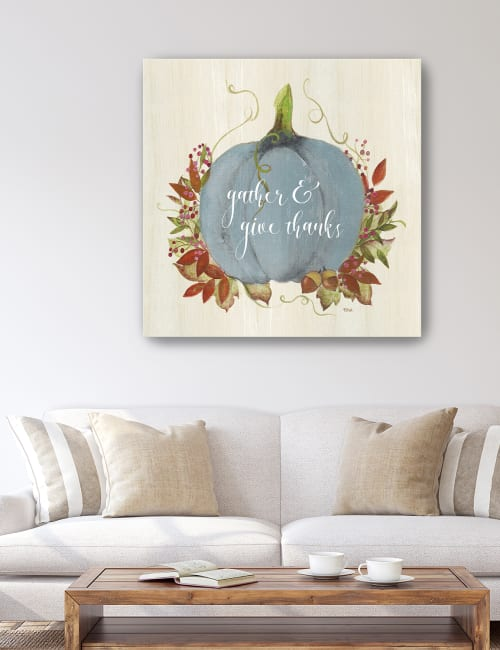 Gather and Give Thanks Canvas Giclee