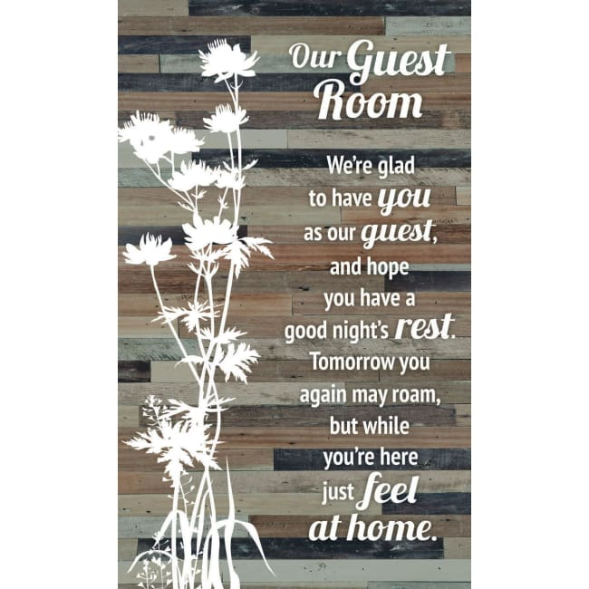 Our Guest Room Wood Plaque Easel - 6