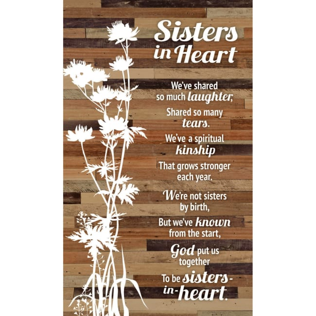 Sister In Heart Wood Plaque Easel - 6
