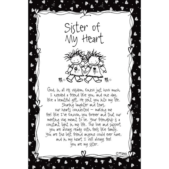 Sister Of My Heart Children Of The Inner Light 6X9 Wood Plaque - Marci Art