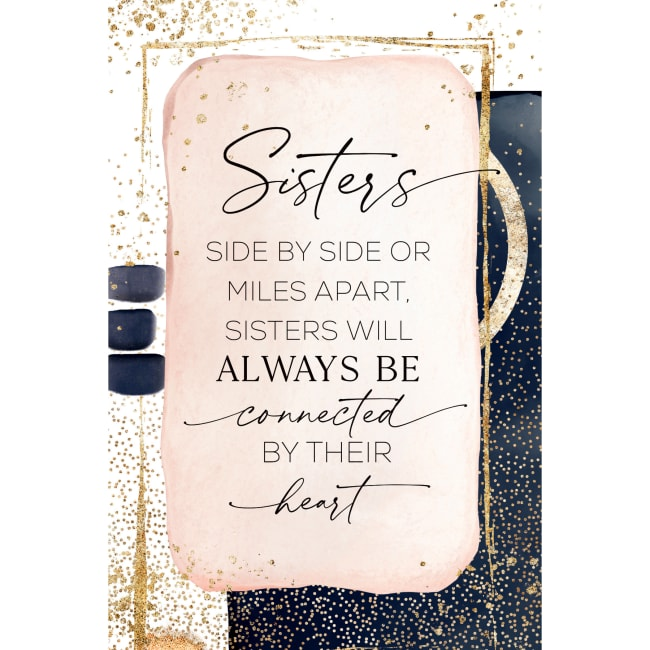 Sisters Side By Side Wood Plaque With Easel And Hanger 6 Inches X 9 Inches