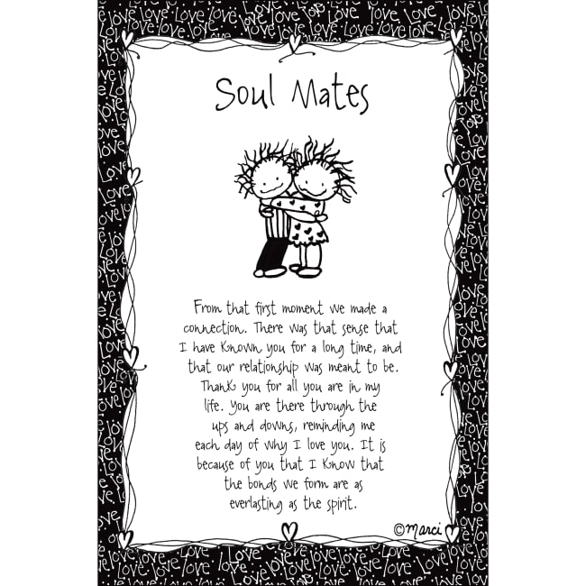 Soul Mates Children Of The Inner Light 6X9 Wood Plaque - Marci Art