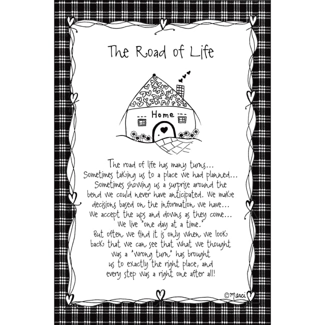 The Road To Life Children Of The Inner Light 6X9 Wood Plaque - Marci Art