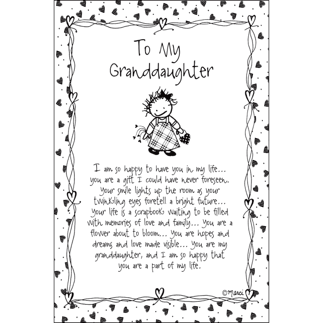 To My Granddaughter Children Of The Inner Light 6X9 Wood Plaque - Marci Art