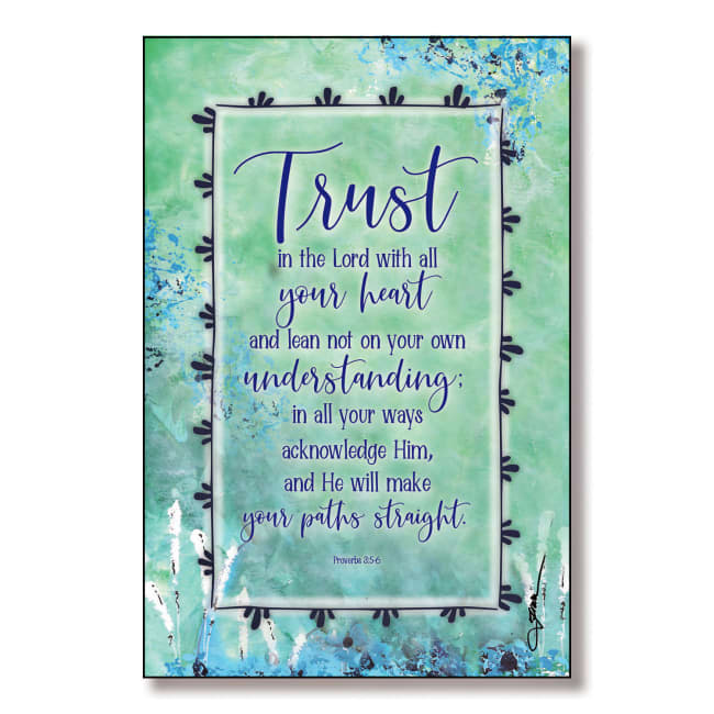 Trust In The Lord Wood Plaque With Easel And Hanger 6 Inches X 9 Inches