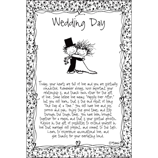 Wedding Day Children Of The Inner Light 6X9 Wood Plaque - Marci Art