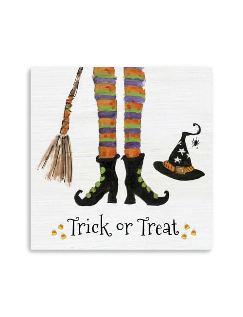 Trick or Treat Witch Canvas Giclee