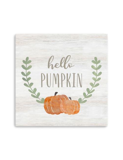 Hello Pumpkin Canvas Giclee