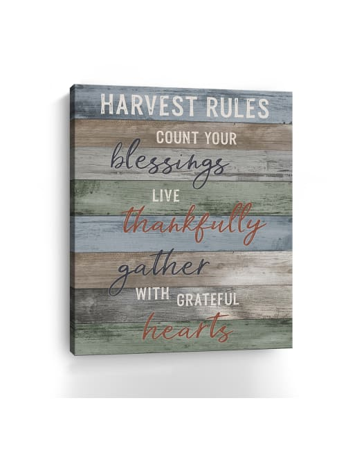 Harvest Rules Canvas Giclee