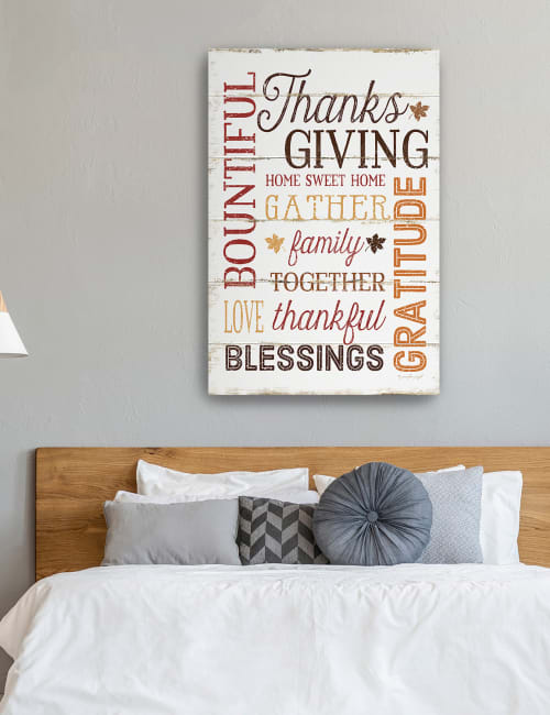 Thanks Giving Canvas Giclee