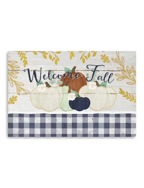 Welcome Fall Pumpkins Canvas Giclee