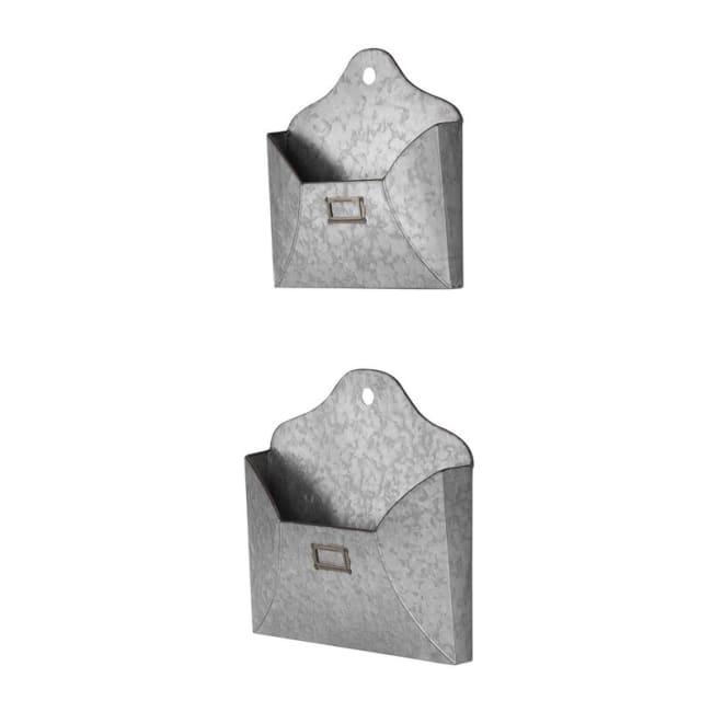 Galvanized Metal Wall Envelope Set Of 2