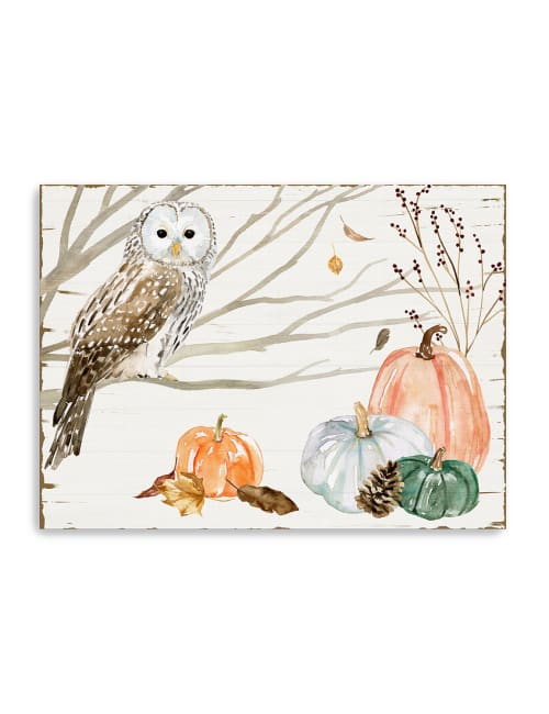 Harvest Owl Collection Canvas Giclee