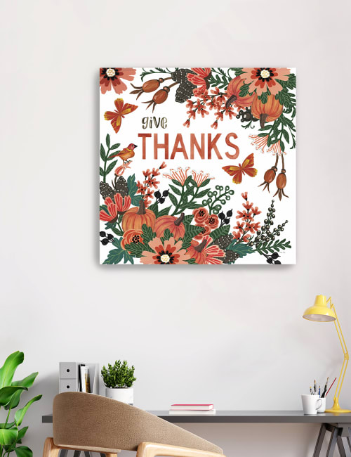 Give Thanks Canvas Giclee