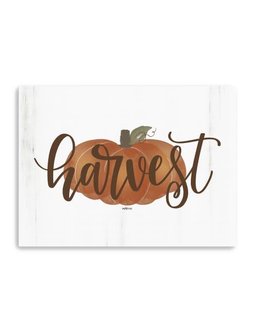 Harvest Pumpkin Canvas Giclee