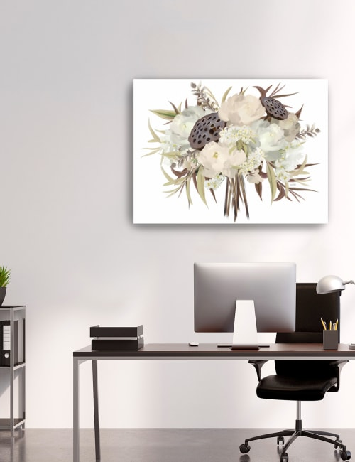 Autumn Boho Bouquet Canvas Giclee