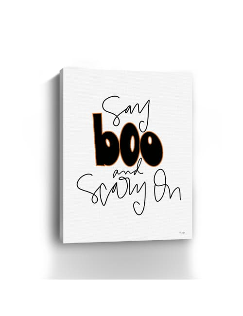 Say Boo and Scary On Canvas Giclee
