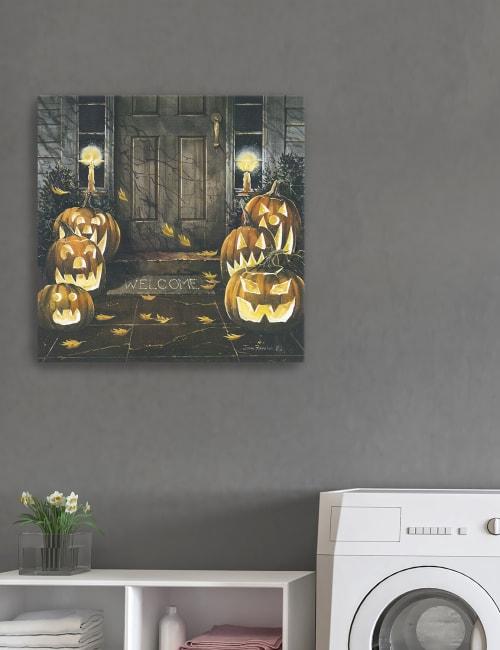 Halloween Hello Canvas Giclee