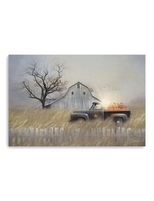Fall Pumpkin Harvest Canvas Giclee