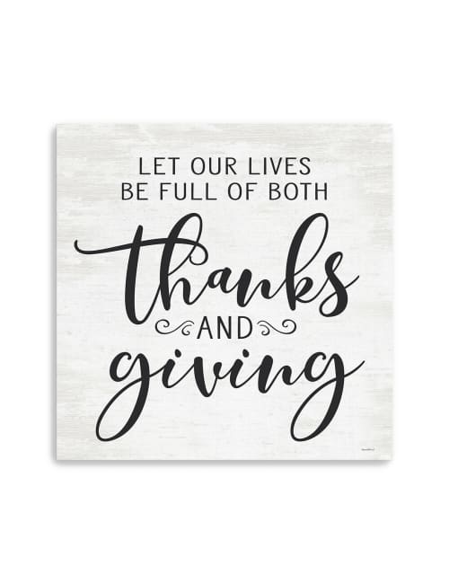 Thanks and Giving Canvas Giclee