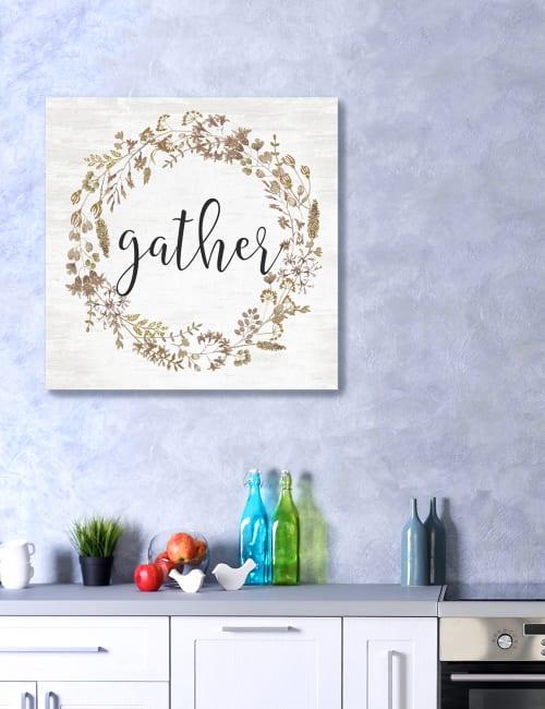 Gather Wreath Canvas Giclee